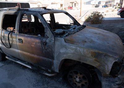 car burnt in fire