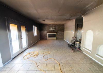 Before Restoration Living Room