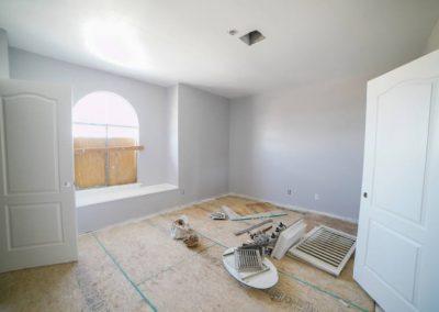 after restoration living room